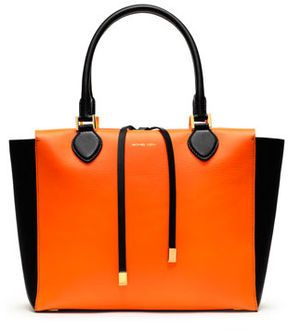 27cc3fc1a41d77 Michael Kors Large Miranda Colorblock Tote on shopstyle.com | orange ...