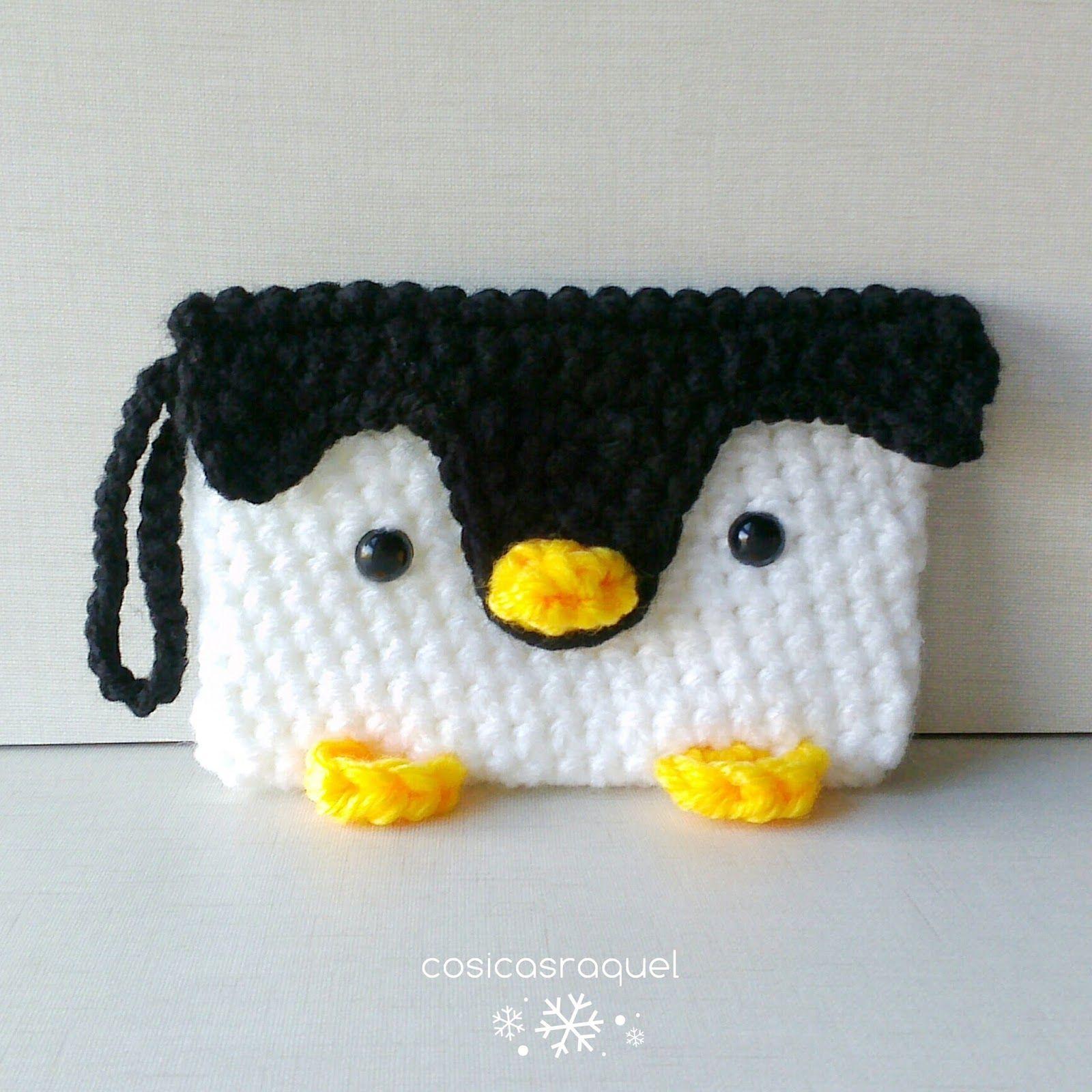 Monedero Pingüino de Crochet