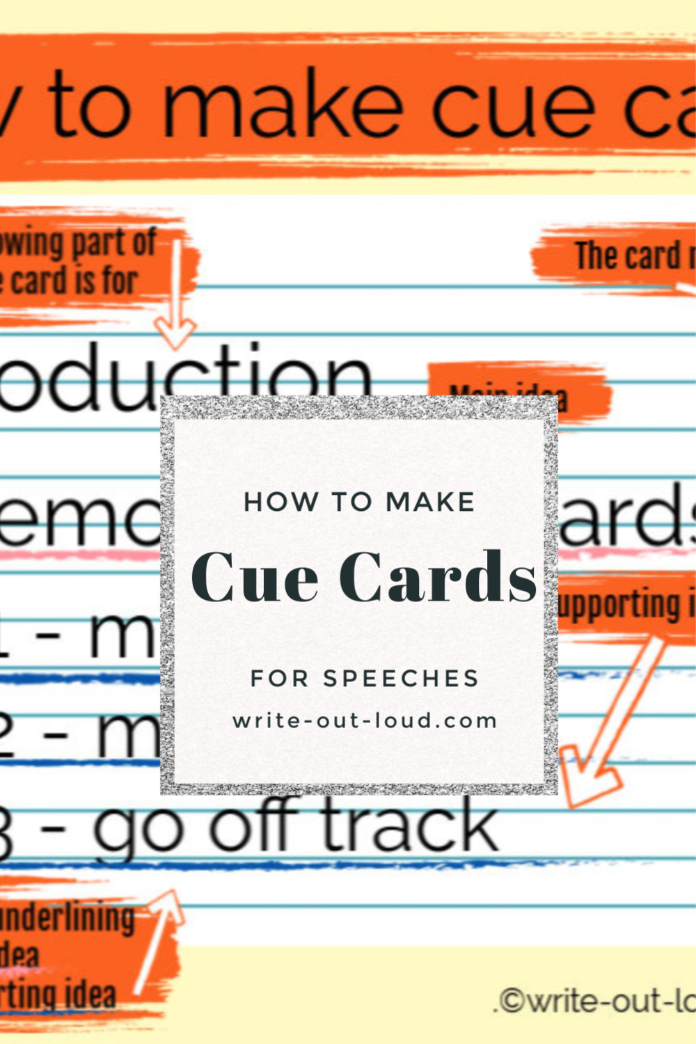 How To Make Cue Cards Speech Writing Tips Cue Cards Public Speaking Activities