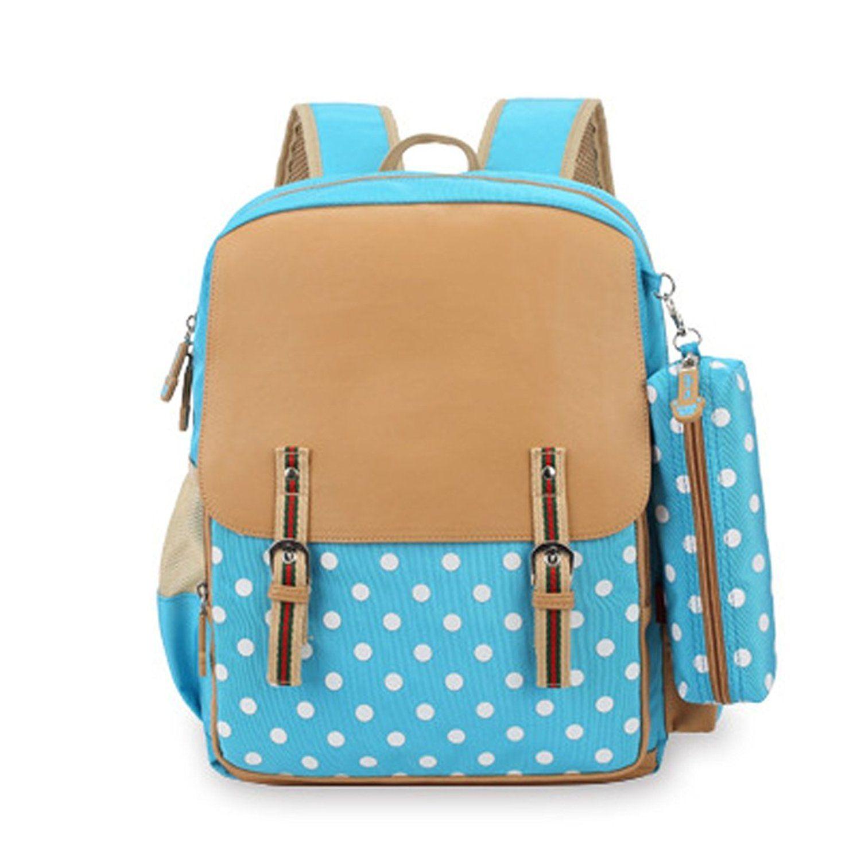 yiuswoy polka dot kids book bag backpack pencil case set you