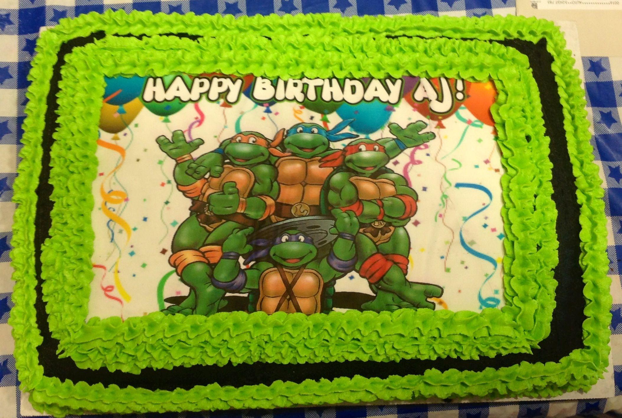 Ninja Turtle Buttercream Sheet cake. | Ninja turtle ...