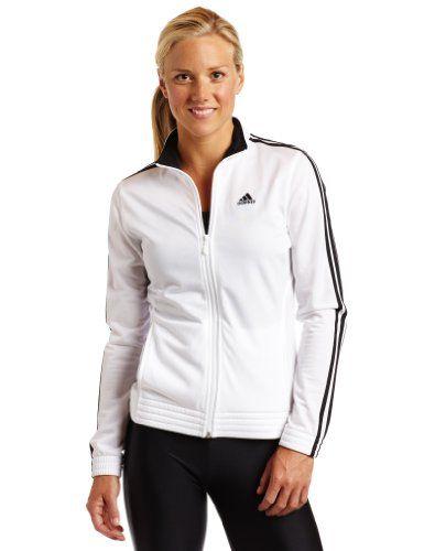 valtava valikoima esittelijänä uusi halpa adidas Women's 3-Stripes Right Jacket, White/Black, Large ...