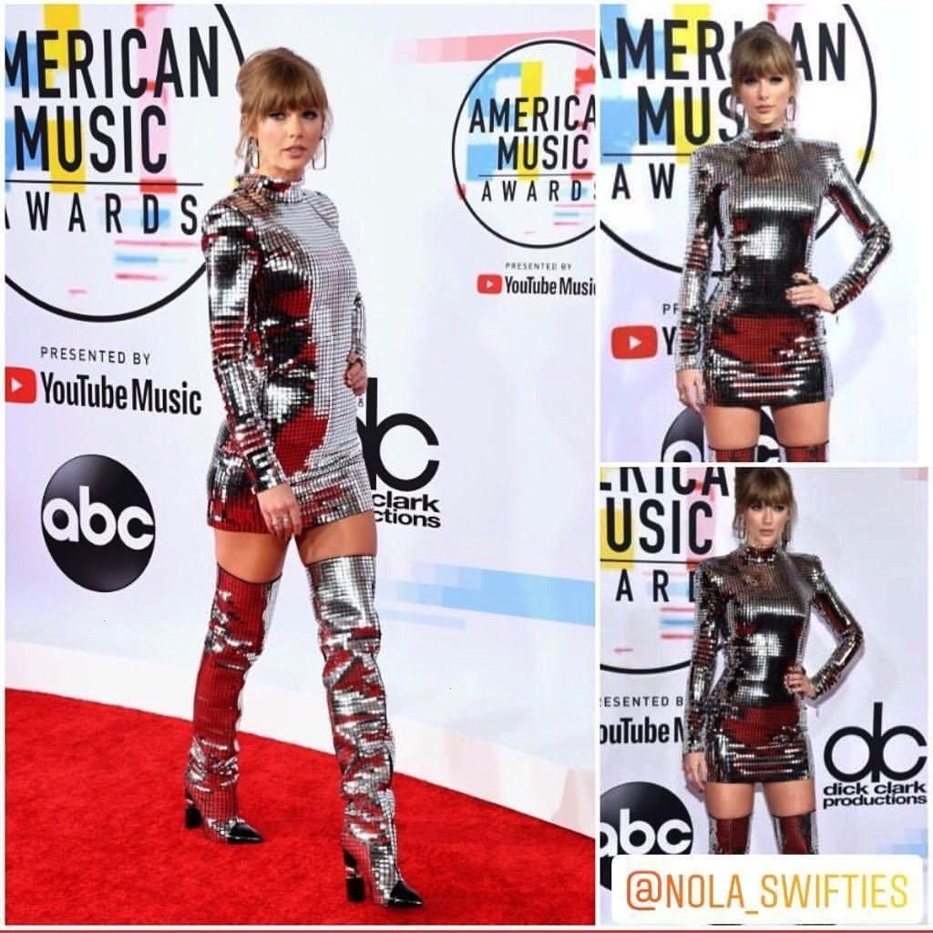 looking GORGEOUS in her new red carpet look Taylor looking GORGEOUS in her new red carpet look  Blonde bombshell Bebe Rexha looked incredible in a black glittery gown wit...
