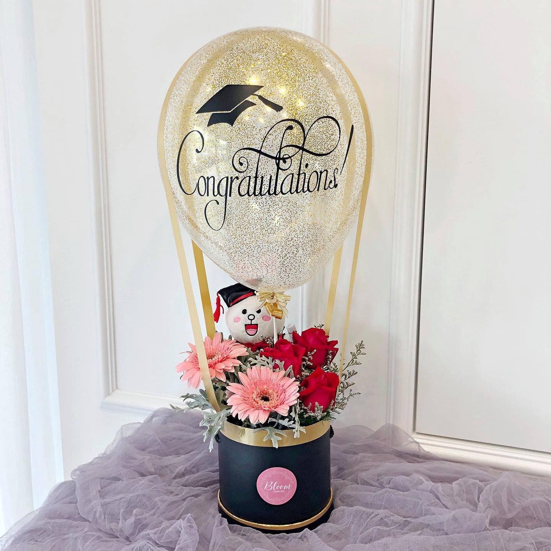 Congratulations 🎉🎉 Hot air balloon design Cute graduation