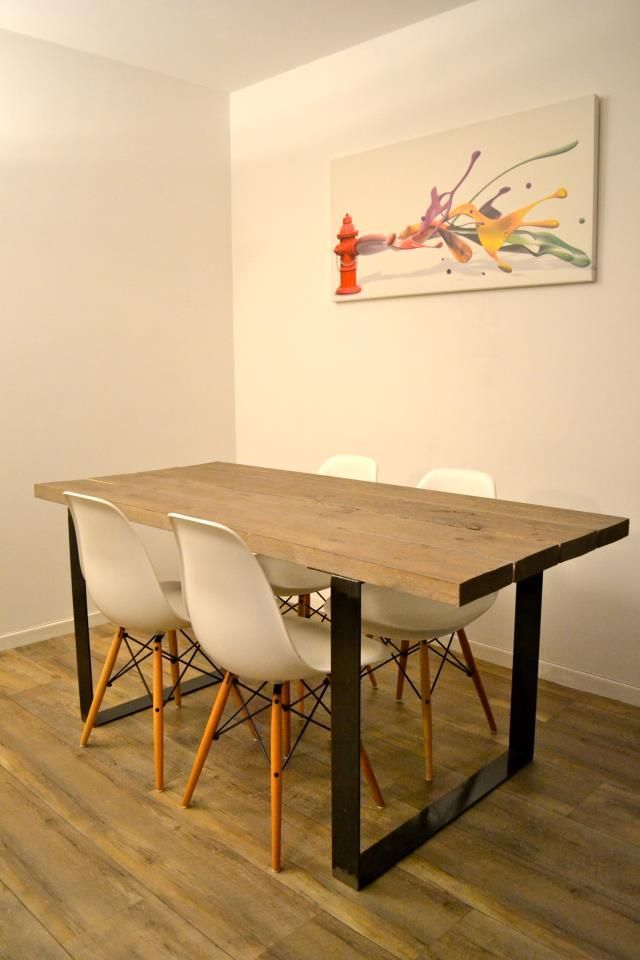 Table Bois Metal Table Salle A Manger Table Bois Brut Et Table