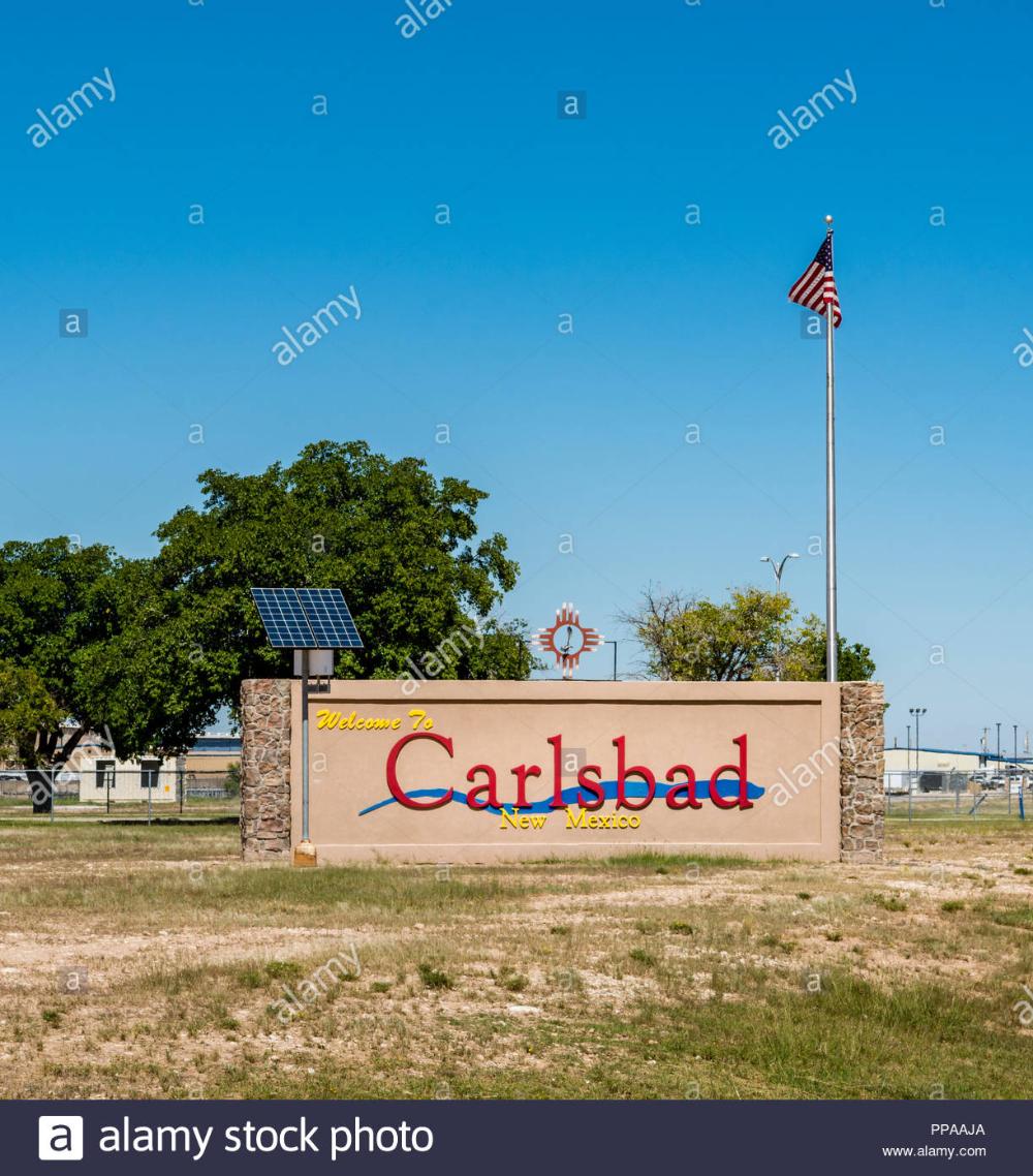 City Of Carlsbad Sign New Mexico Carlsbad New Mexico Carlsbad