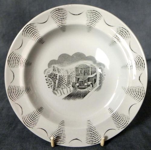RARE-ERIC-RAVILIOUS-DESIGNED-TEA-PLATE-FROM-THE-TRAVEL-SERIES-CHARABANC-BUS