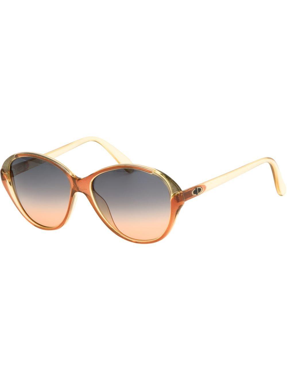CHRISTIAN DIOR VINTAGE Cat eye framed sunglasses KGjlq