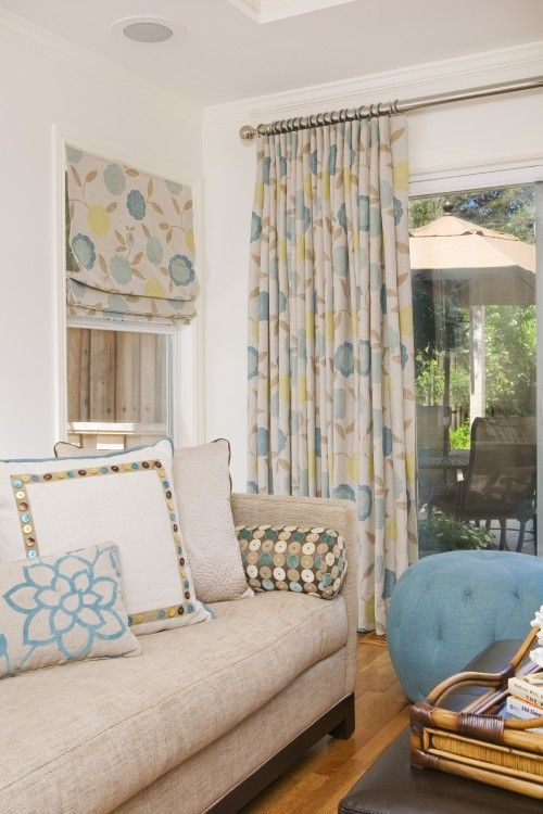 Window Treatments Diffe Styles Same Fabric Bright And Sunny Perfect I Need A Living Room Makeover