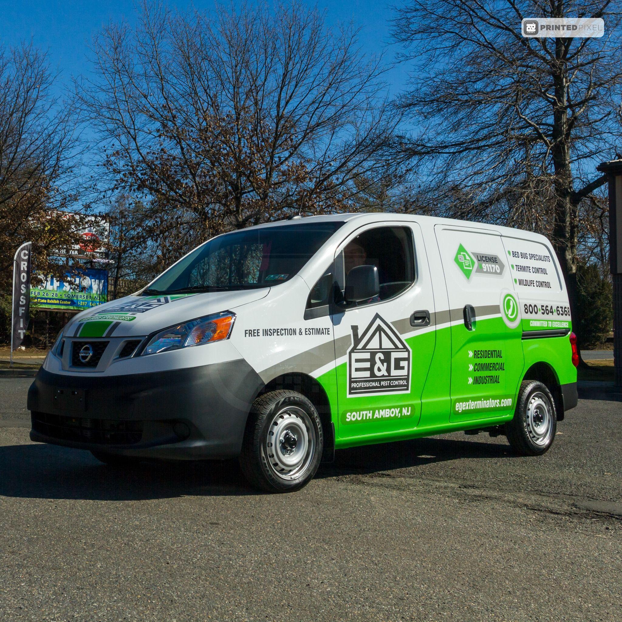 E G Professional Pest Control Van Wrap Truck Design Car Wrap Van Wrap