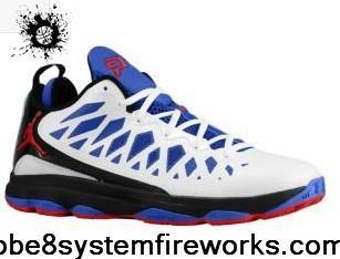 best service e264b 212ae Cheap Discount Jordan CP3.VI White Black Game Royal Sport Red 535807 103 CP3  Shoes