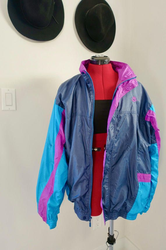 90s 80s Vintage Nike Color Block Windbreaker Turquoise Purple Navy Blue  Hip-Hop Jacket Hipster Athletic Coat Vintage from RetroRevivalnRefresh on  Etsy. cdd0aa24e
