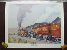 "SOUTHERN PACIFIC DAYLIGHT TRAIN ""APPROACHING TEHACHAPI"" PRINT LOCOMOTIVE"