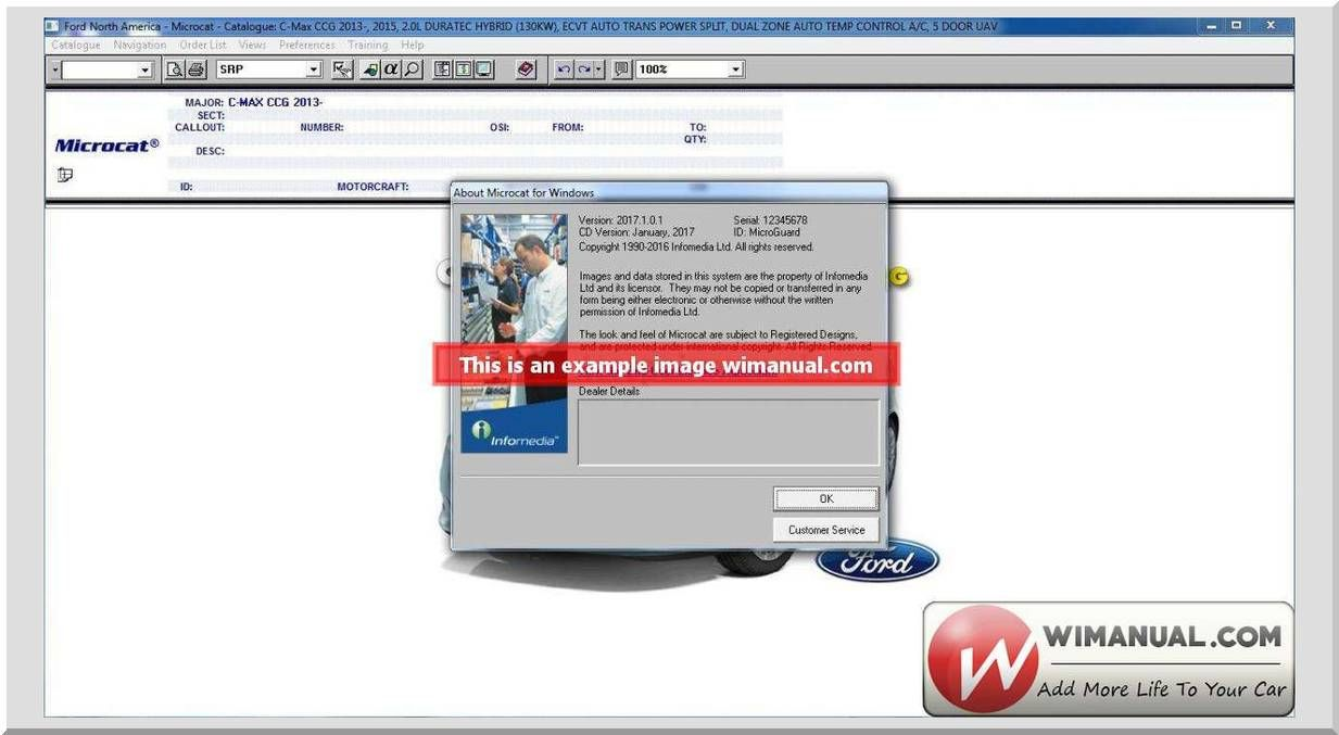 Microcat Ford North America 01 2017 official and setup manual Size: 8,03Gb  Language: English Type: Spare Parts Catalog for FORD USA Market (Passenger  Cars, ...