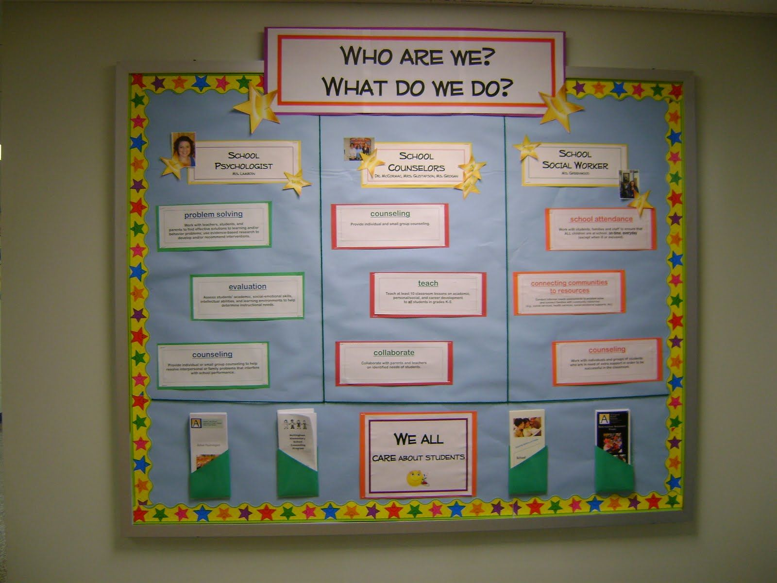Intro Wall For Counseling Department