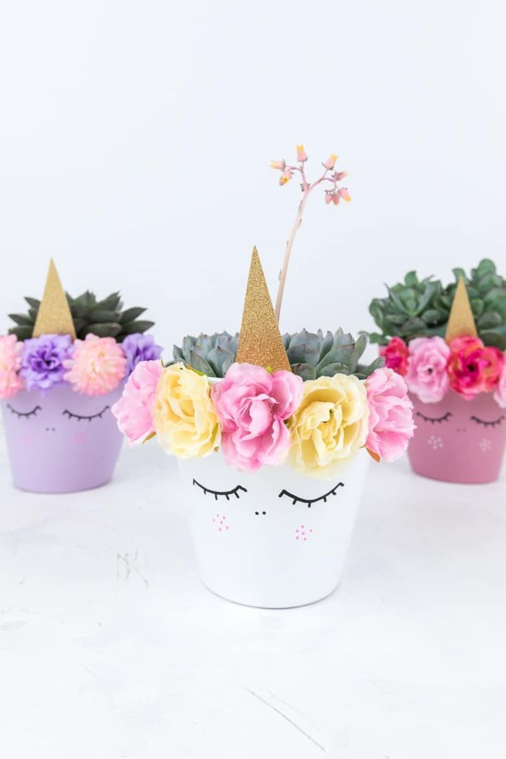 Einhorn Blumentopf Diy Diy Deko