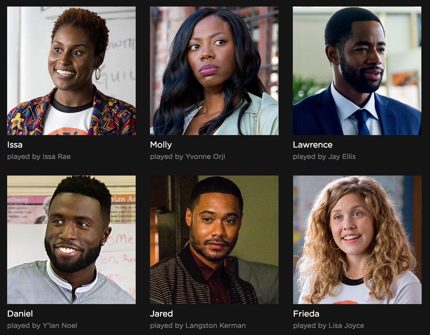 The cast of Insecure Season 1 on HBO | Iconic Television in