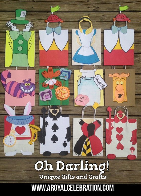 Alice In Wonderland Treat Bags By Ohdarlingcrafts On Etsy Addy S 1st B Day Pinterest Bag And