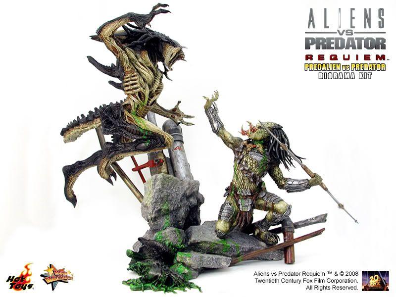 Hot Toys - DIORAMA MASTERPIECE SERIES PredAlien vs Predator - Statue