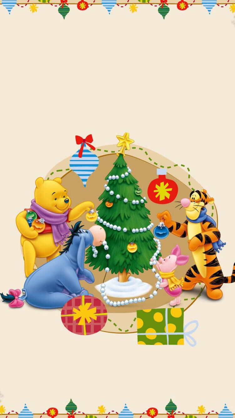 Iphone 6 6s Wallpaper Winnie The Pooh Christmas Wallpaper