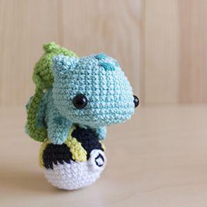 Baby Bulbasaur Amigurumi Pokémon Crochet Free Pattern ... | 300x300