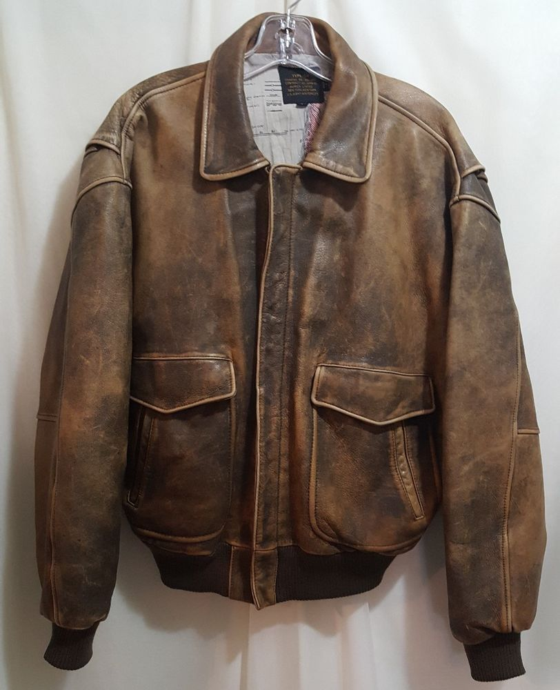16de05116b020 Vintage Avirex 1987 US Army Air Force Type G-1 Leather Flight Bomber ...