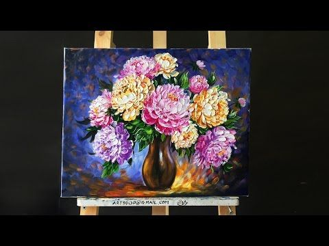 Paint Cotton Swab Flowers With Acrylics Easy Step By Step Live