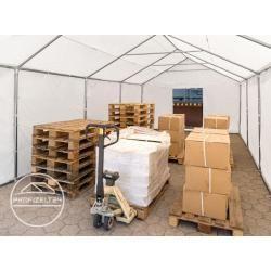 Photo of Lagerzelt 4×6 m, Pvc 550 g/m², mit Bodenrahmen dunkelgrün Unterstand, Lager Toolport
