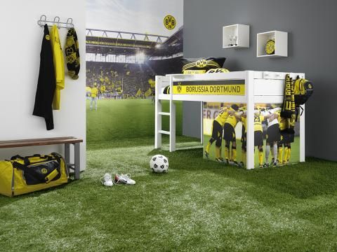 Kinderzimmer einrichten, Themenzimmer, Fußball-Zimmer | Decoração ...