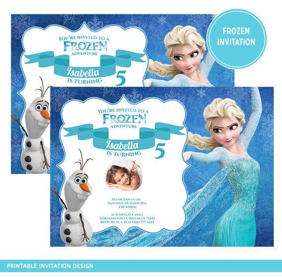 Printable Blue Frozen Elsa And Olaf Snow By SprinklesPrintables