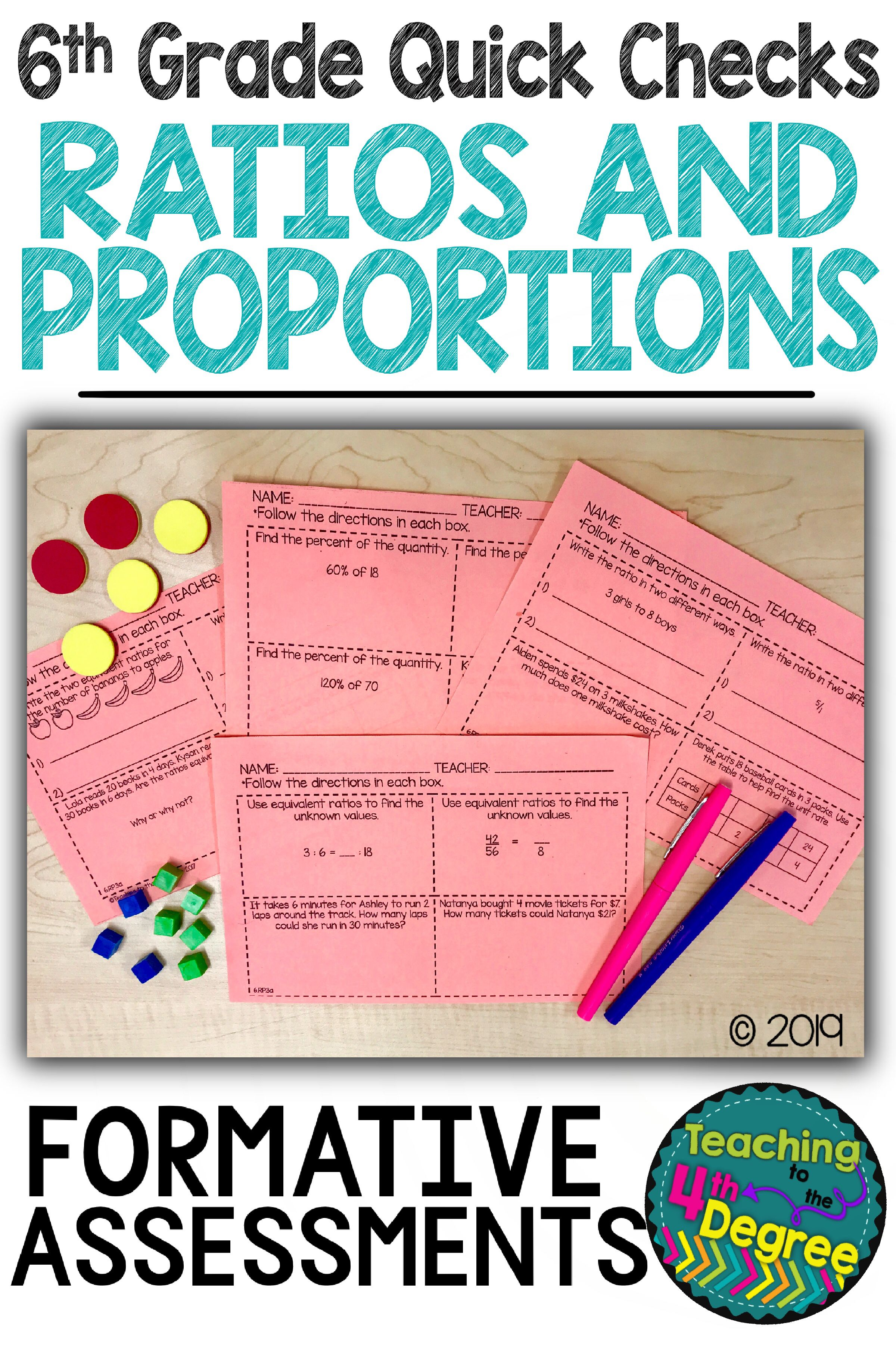 Ratios And Proportions Exit Tickets 6th Grade Digital And Printable Bundle Upper Elementary Math Math Ratios And Proportions