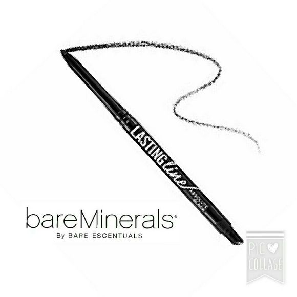 """Bare Minerals Lasting Line eyeliner Absolute Black Bare Minerals """"Lasting Line"""" eyeliner in Absolute Black. Brand new in box, Never opened. I've included screen shots of the company's product Details , Benefits, and """"How to Use"""" instructions.   See the current Sale ad at the top of my closet ⭐ Bundle & Save ⭐ or Make an offer! bareMinerals Makeup Eyeliner"""