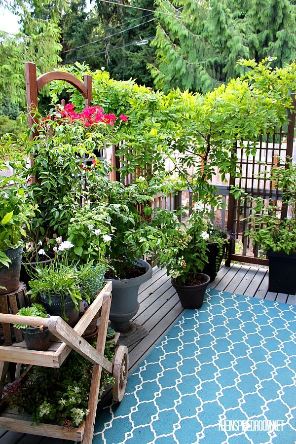My small backyard deck makeover before after patio for Paisajismo de patios