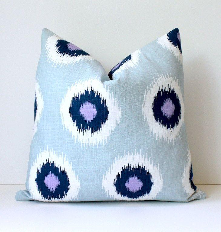 ikat polka dots modern decorative designer pillow cover. Black Bedroom Furniture Sets. Home Design Ideas