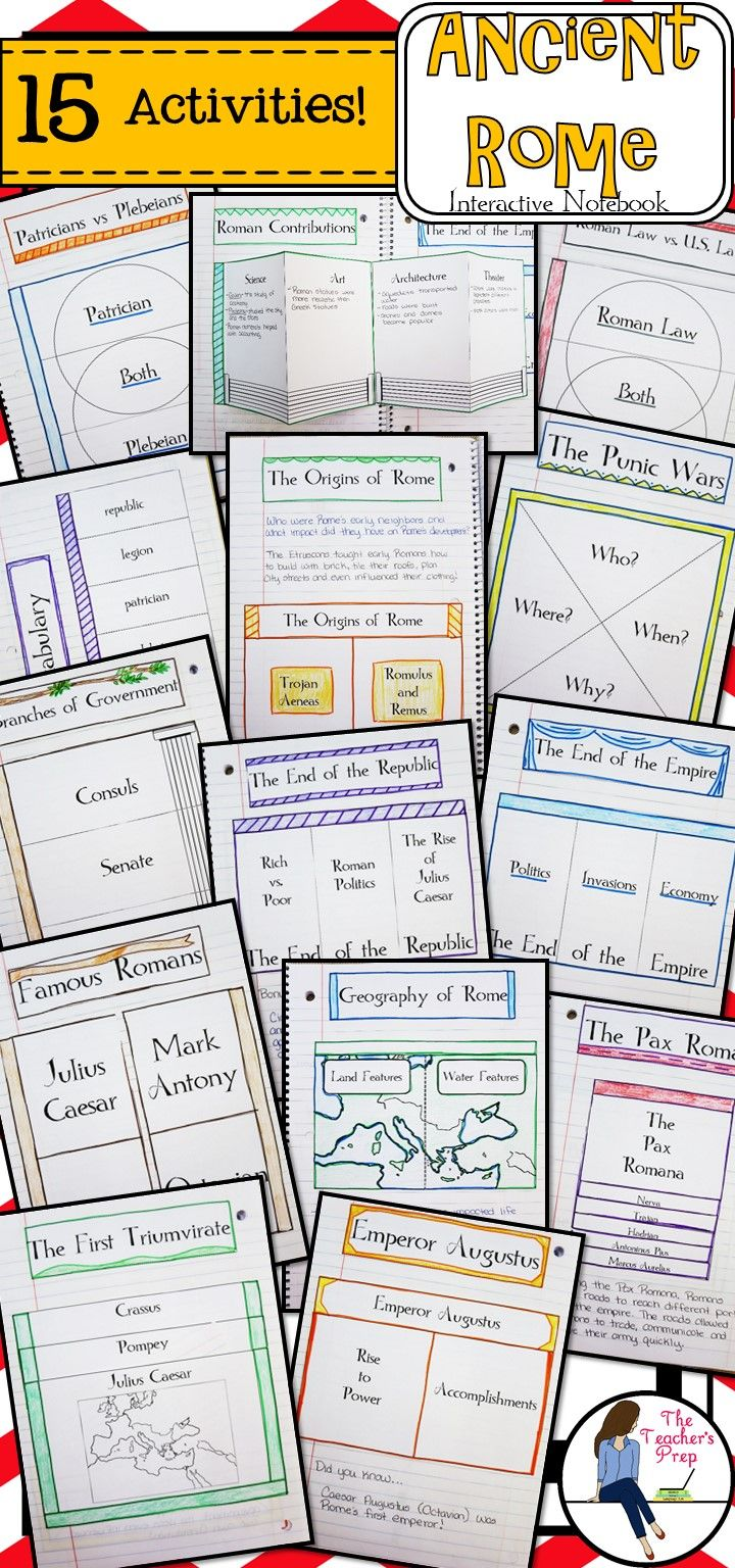 ancient rome interactive notebook graphic organizers organizing