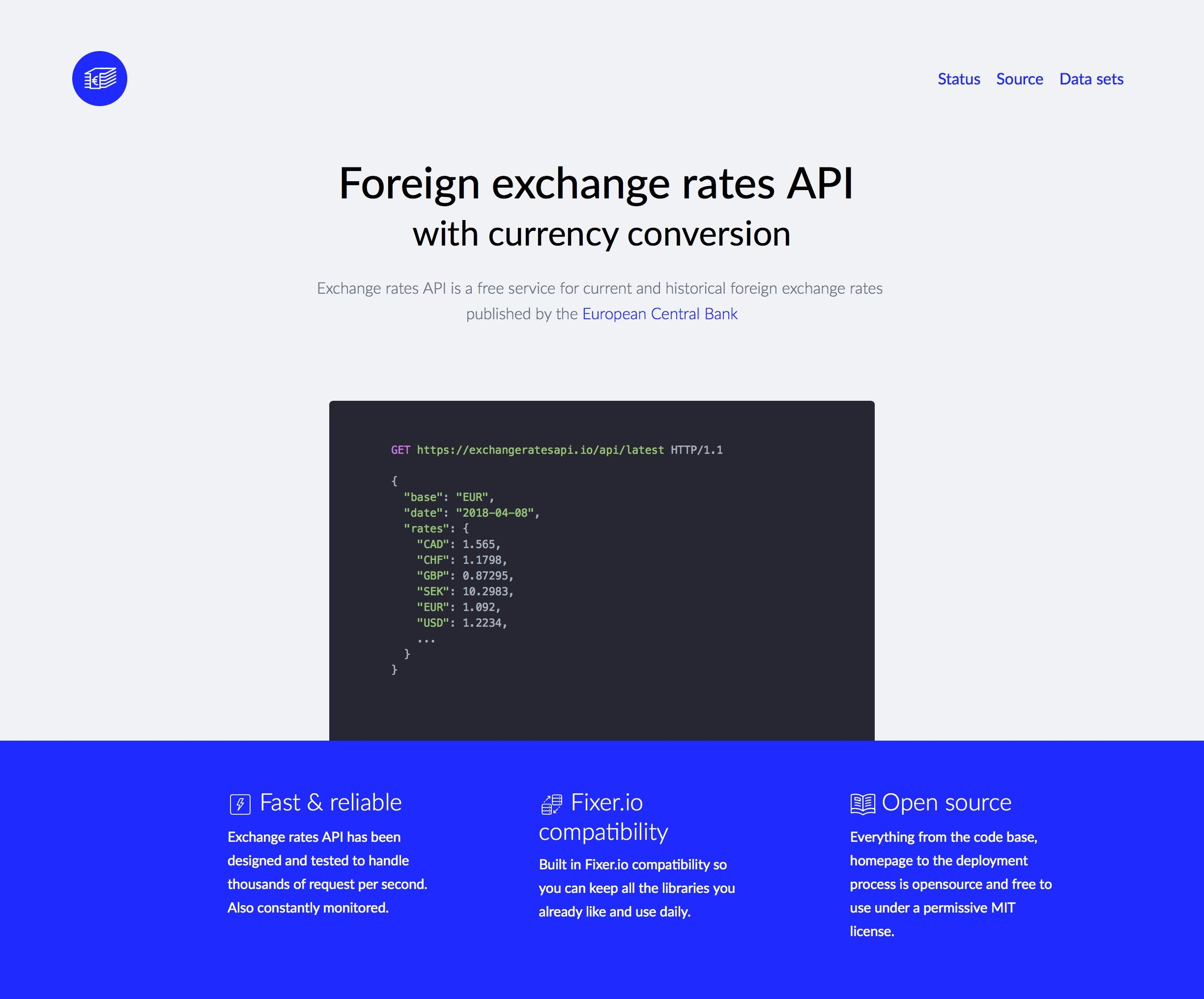 Foreign Exchange Rates Api With Currency Conversion