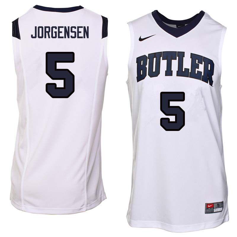 Men 5 Paul Jorgensen Butler Bulldogs College Basketball Jerseys