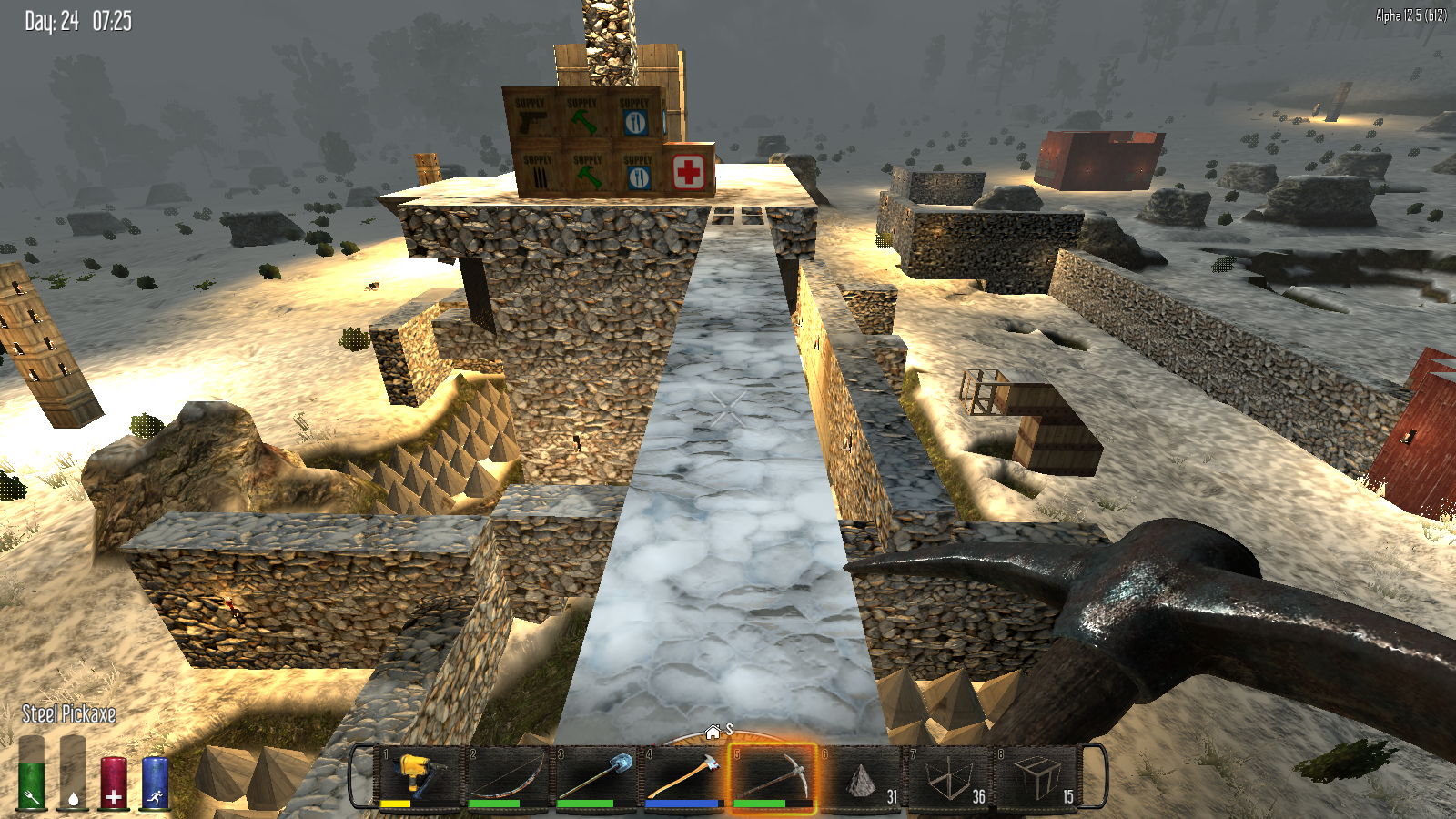 Working On The New Base In 7daystodie See My Latest 7 Days To Die Highlight Here Http Www Twitch Tv Pitstophead V 15179889 7 Days To Die Survival Games Day