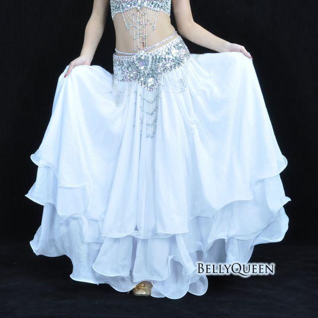 72fd789c7 YI NA SHENG WU ropa de danza del vientre doble abertura oreja chifón ...