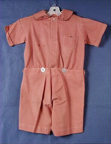 1920-1923 Suit, boy's, 2-pc, light brown linen.