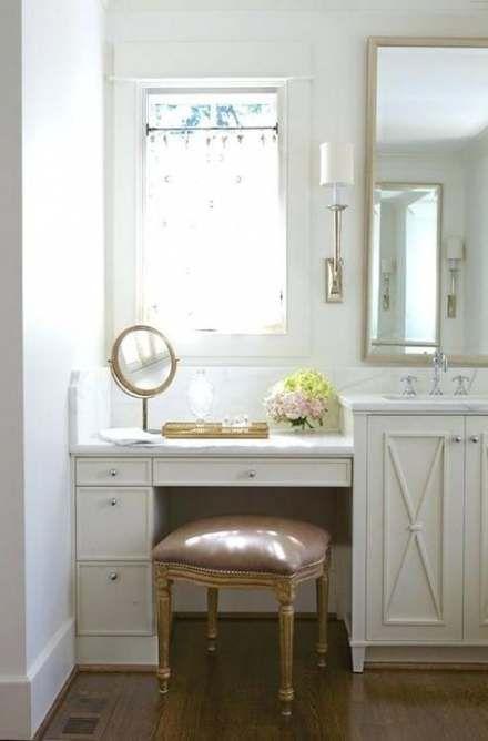Bathroom vanity with makeup area lighting 41 ideas #makeup ...