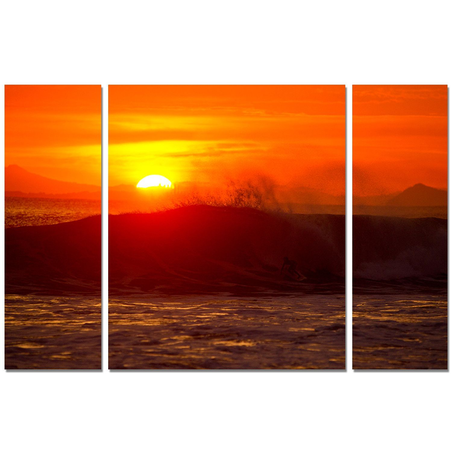 'Sunset' by Nicola Lugo 3 Piece Photographic Printt on Wrapped Canvas Set