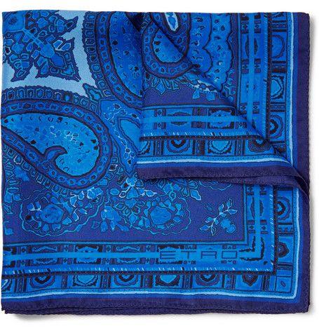 Etro Paisley-Print Silk Pocket Square | MR PORTER