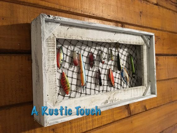 Here is the perfect display case for your vintage fishing lures.  Lures shown…