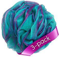 Loofah Bath Sponge Set Of 3 Different Colors 70 Gram Each By A