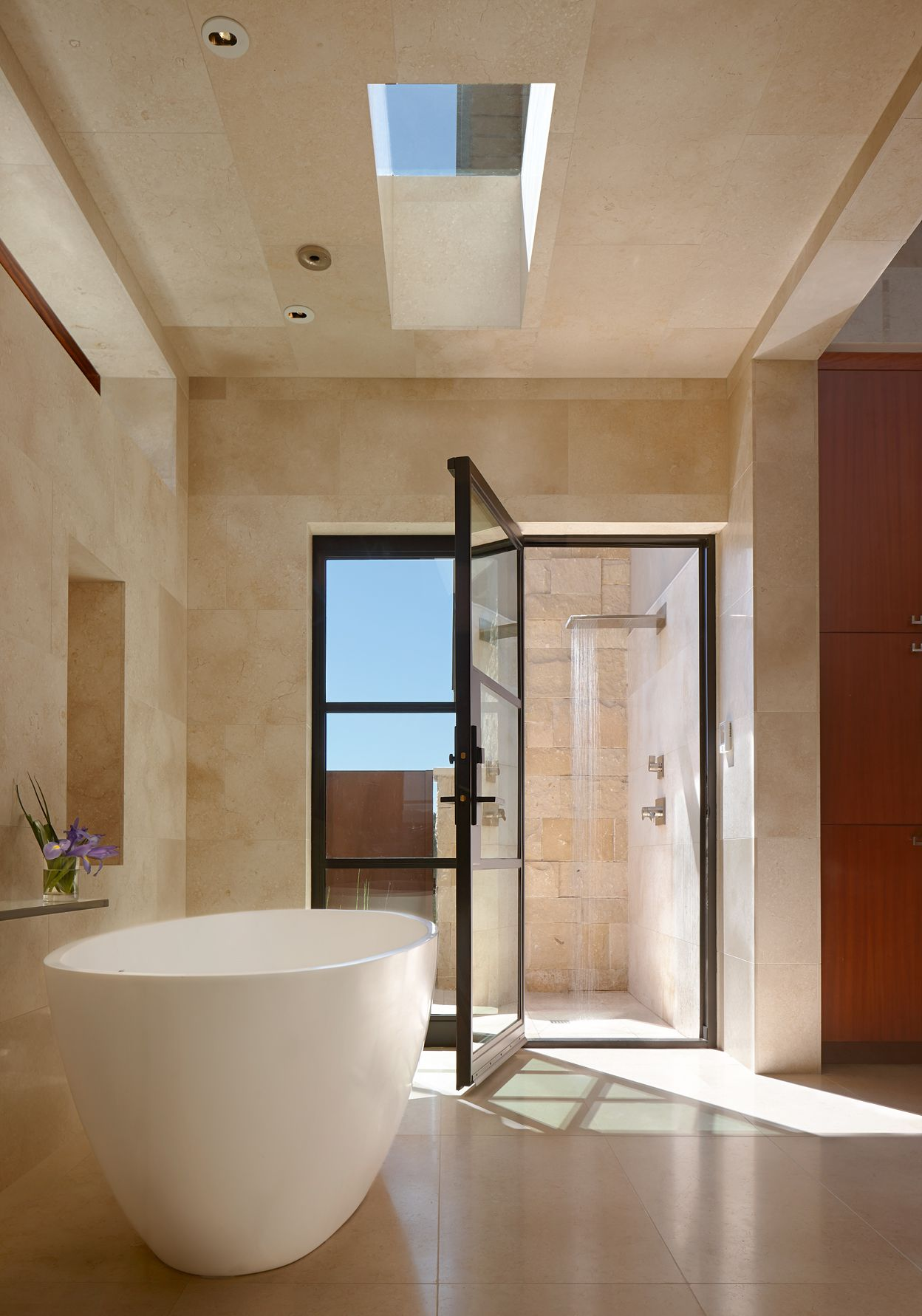 By Larue Architects: Master Bathroom At The Escala Drive Residence