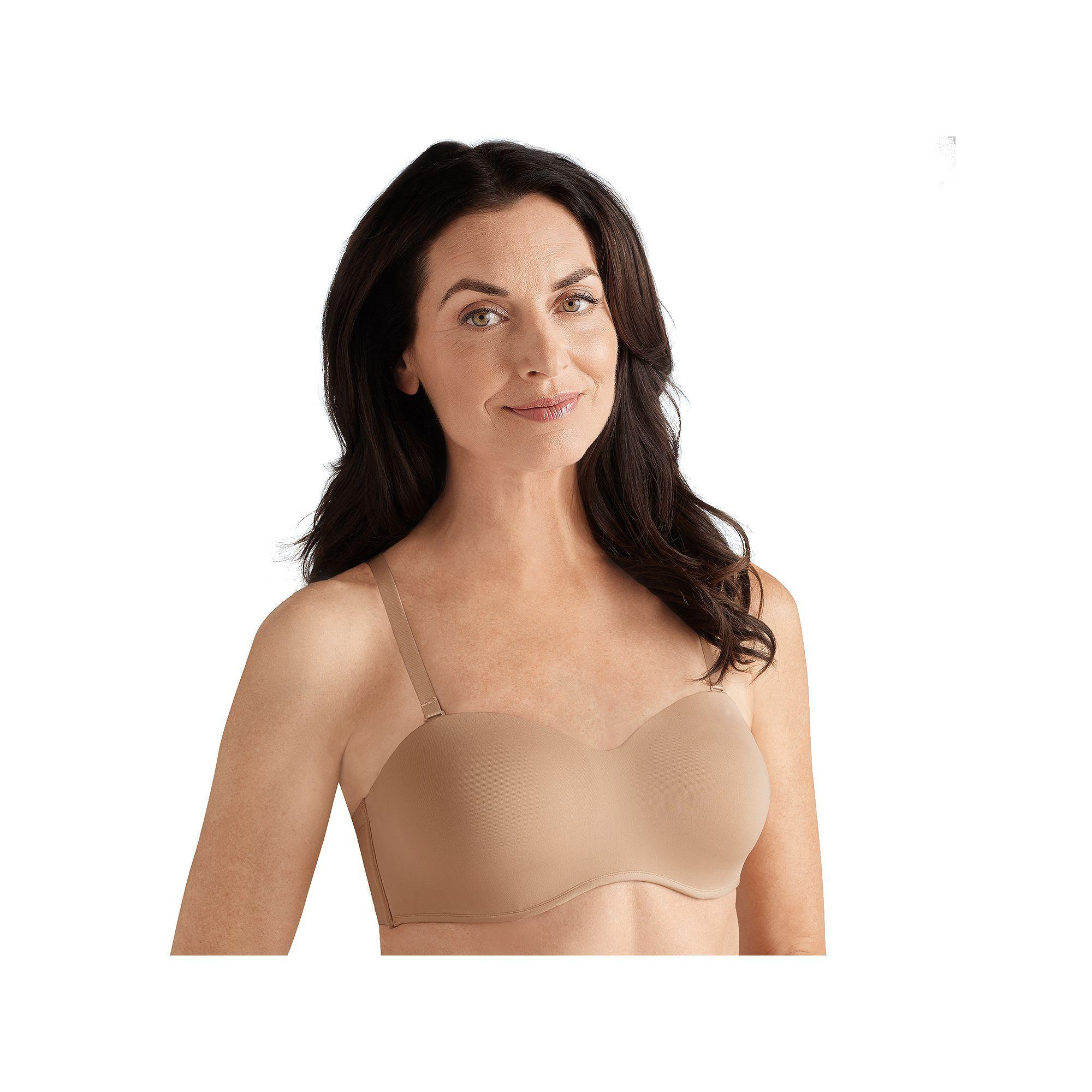 Amoena Bra: Barbara Convertible Strapless Bra 2457 - Women's, Size: 38 B,  Black