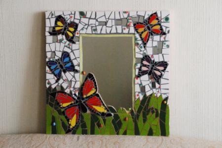 Espejo mosaiquismo pinterest for Mosaicos para espejos