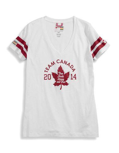 Women's V-Neck Team Canada Tee   Hudson's Bay
