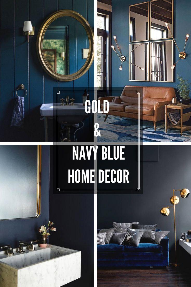 Le Bleu Petrole Et Le Dore Une Combinaison A Retenir Pour 2018 Decoration Salon Noir Salle De Bain Noir Et Blanc Bleu Petrole